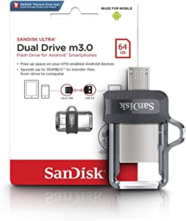 Sandisk SDDD3-064G-G46 Ultra Dual Drive m3.0 for Andriod Smartphones - 64GB- Black (Pack of1)