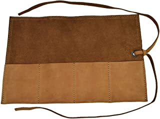 Soft Leather Travel Watch Roll Organizer Holds Up to 4 Watches Handmade by Hide & Drink :: Toffee Suede