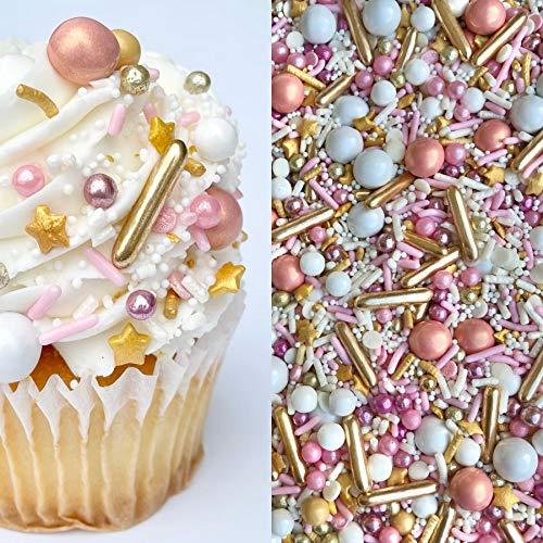 Sprinkles | Rose gold sprinkle | Pink and gold sprinkles | Sprinkle mix | Cake sprinkles | Jimmies | Cupcake sprinkles | Manvscakes