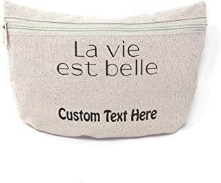 Canvas Shopping Tote Bag La Vie Est Belle Miscellaneous Image Foreign Languages French Vintage Gifts