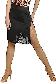 G2012 専門通用のされるラテンダンス 社交ダンス スイング タッセル スカート(フリンジと側面分岐設計)