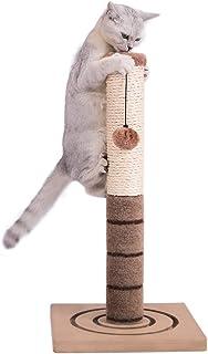 PAWZ Road 爪とぎポール 猫 おもちゃ 天然サイザル麻 頑丈 カリカリ 棒 爪磨き 小型キャットタワー 猫タワー 子猫 シニア猫 ブラウン