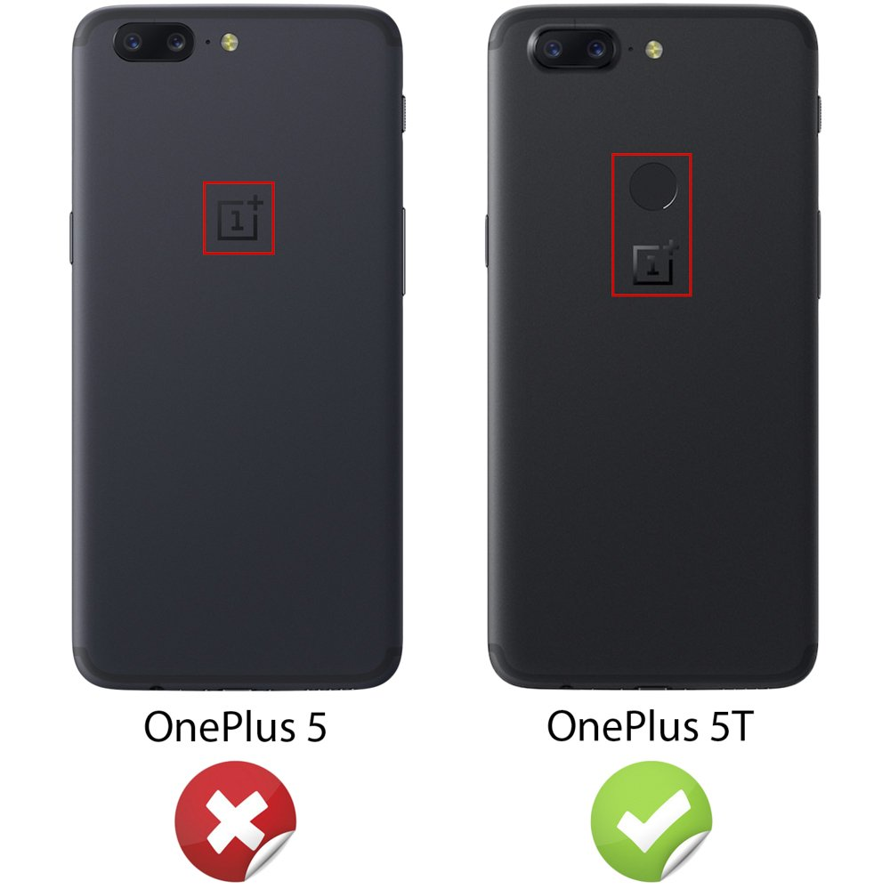 NALIA Funda Compatible con OnePlus 5T, Apariencia de Cuero Carcasa ...