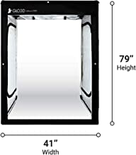 "Glo3D LB200 Foldable Photo Studio Lightbox - 41""x 79"" Portable LED Photography Tent for Clothes & Models and Many More"