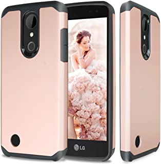 TJS Case for Aristo/Aristo 2/Aristo 3/Aristo 2 Plus/Phoenix 4/Tribute Dynasty/Tribute Empire/Rebel 2 LTE/Rebel 3 LTE/Zone 4/Fortune/Fortune 2/Rebel 4 Dual Layer Hybrid Shockproof Armor (Rose Gold)