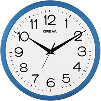 Ajanta Quartz Real Sweep Movement 14 Inches Wall Clock for Home (Baby Blue)