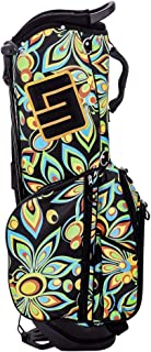 Loudmouth Shagadelic Black 8.5 Inch Double Strap Golf Bag