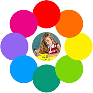 Colorful Dry Erase Dots Circles Whiteboard Marker Removable Vinyl Stickers Spots Wall Decals for School Classroom Teachers...