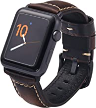 Carty Compatible with Watch Band 42mm 44mm 40mm 38mm Leather Watch Strap Replacement for Watch Series 4 Series 3 Series 2 Series 1
