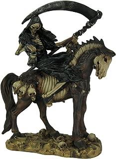 Zeckos Horseman of Death Grim Reaper On Horseback Statue