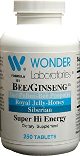 Sponsored Ad - Bee/Ginseng, Super High Energy Formula of Bee Propolis and Siberian Ginseng - 250 Tablets #1512