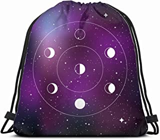 Pinbeam Luggage Cover Moon in Flat Dasign Night Space Astronomy Travel Suitcase Cover Protector Baggage Case Fits 18-22 inches