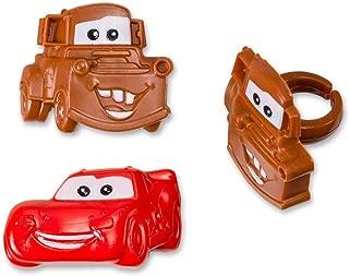 Disney Cars Mater and McQueen Cupcake Rings - 24 ct