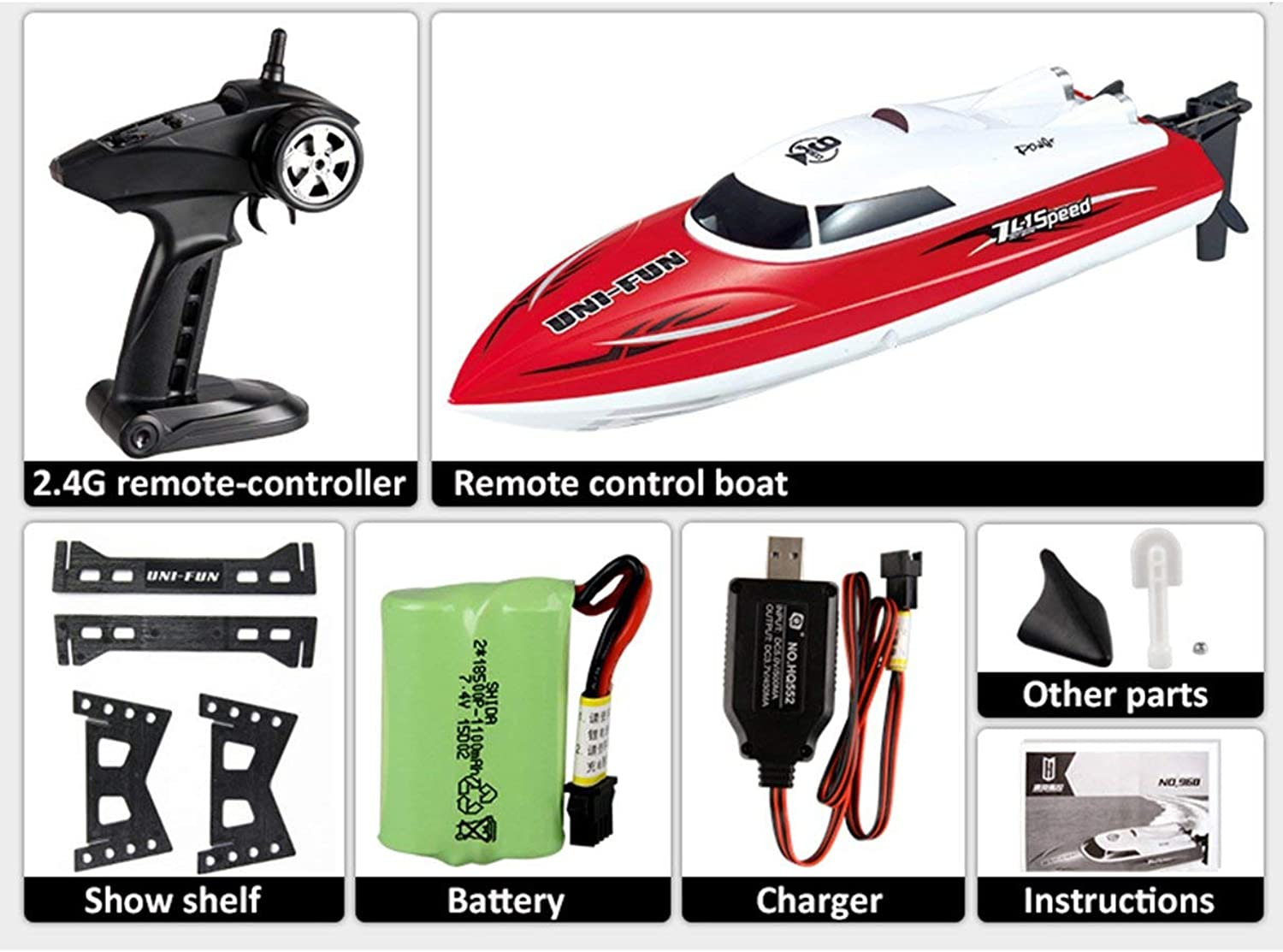 960 2 4G RC 25km h High Speed Racing Boat Ship Speedwith Water