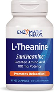 Enzymatic Therapy L-Theanine Suntheanine® Brand Patented Amino Acid 100 mg Potency, 180 VCaps