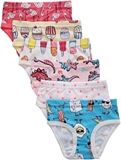Girls' Cotton Underwear Kids Soft Panties 6-Pack