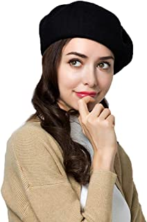 95% Wool Beret Artist Hat French Hat Casual Solid Color Spring Winter Hat for Women