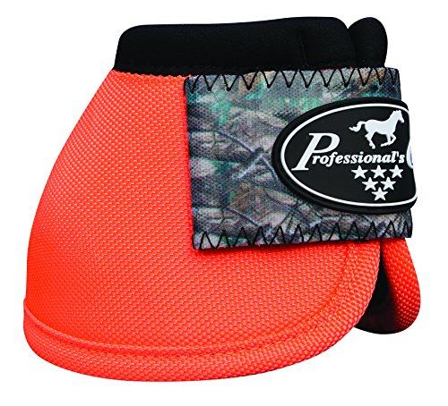 Professional's Choice Equine Ballistic Hoof Overreach Bell Boot, Pair (Large, Camo/Orange)