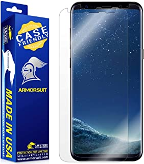 [2 Pack] ArmorSuit MilitaryShield [Case Friendly] Screen Protector For Samsung Galaxy S8 - Anti-Bubble HD Clear Film