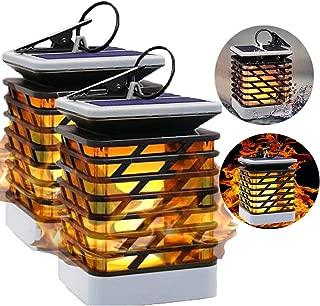 ElectroLantern | Solar Lantern | Solar Light Outdoor | LED Flickering Flame Torch Lights | Solar Powered Lantern Hanging for Patio Garden Deck | Solar Lantern Decorative Atmosphere Lamp | 2 Pack
