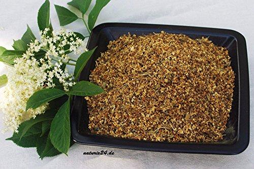 Naturix24 – Holunderblüten gerebelt – 500 g Beutel