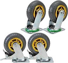 Zwenkwielen 4 inch 5 inch 6 inch 8 inch heavy-duty rubber universeel wiel duwwiel auto mute wiel plat wiel 4 inch universe...
