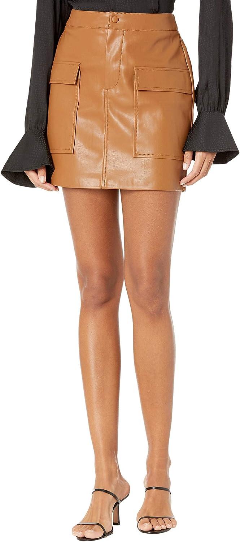 BB Dakota by Steve Madden Women's Leather Too Late Skirt