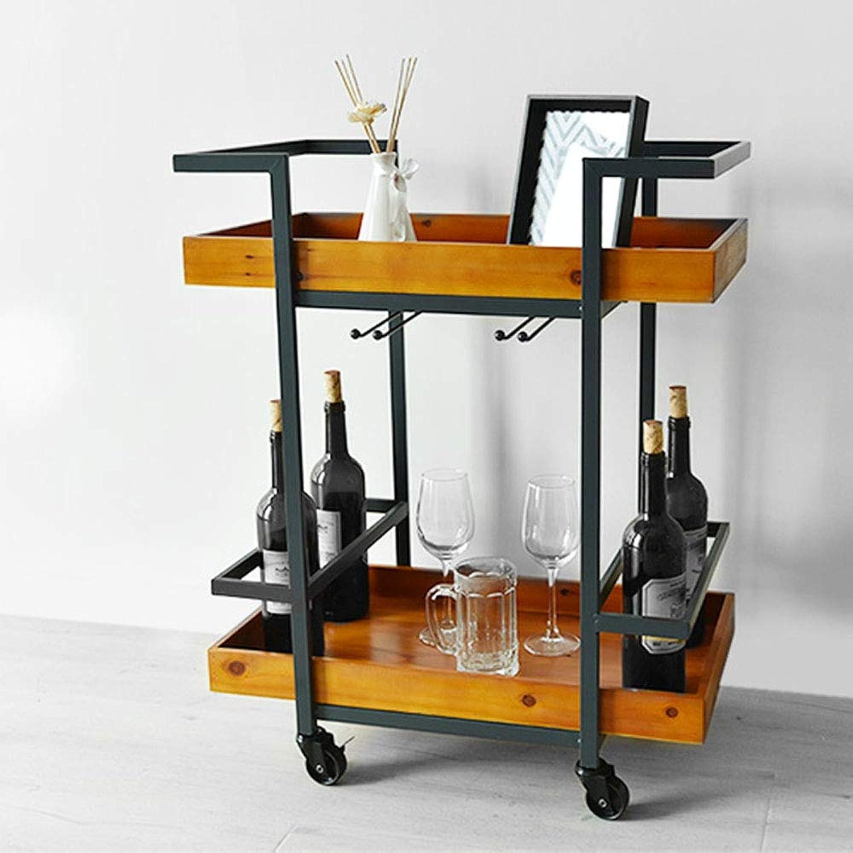 la calidad primero los consumidores primero Biblioteca Biblioteca Biblioteca DD Home Dining Coche Trolley Wine Cochet Retro Industrial Style Aparador Madera Sólida Multifuncional Rack De Cocina  bajo precio del 40%
