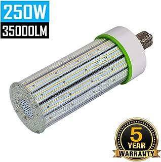 250W LED Corn Light Bulb, E39 Mogul Base LED Bulbs, 5000K Daylight 35000LM 1000Watt CFL HPS Metal Halide Equivalent, Large Area Lamp Replacement for Street, Garage, Warehouse High Bay Lighting
