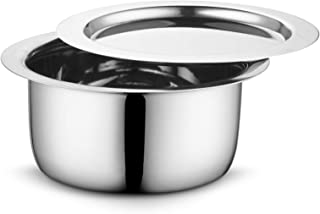 Profusion Stainless Steel Tope/patila/bhagona with stainleess Steel lid- (Silver, 1 PC- Capacity- 4 Litre)