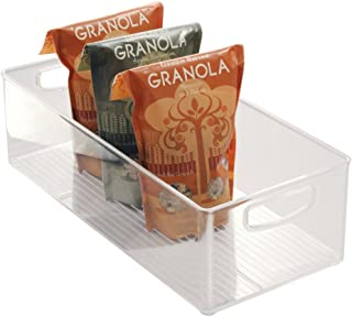 iDesign bac rangement frigo, grande boîte alimentaire spacieuse en plastique, boîte conservation alimentaire à poignées, t...