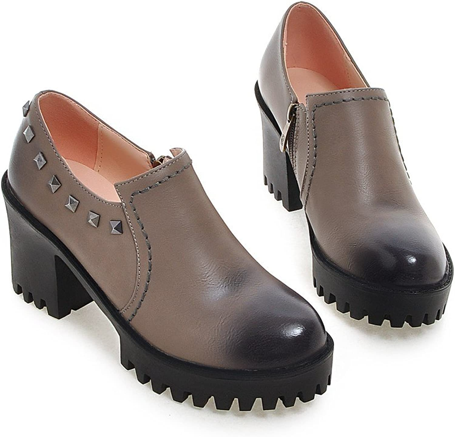MFairy Woman's Fashion British Style Rivet Martin Boots Casual Oxford Flats