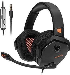 NUBWO Casque Gaming PS4 Xbox One Ecouteur de Jeux Stéréo avec Réduction de Bruit et Contrôle en Fil pour PS4/Xbox One/PC