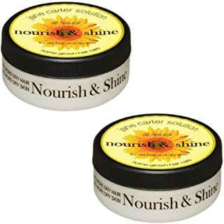 Jane Carter Solution All Natural Nourish and Shine for Dry Hair and Dry Skin, 4 Ounce (2 pack)