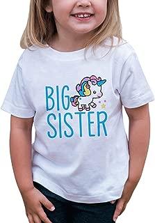 Girls Big Sister Unicorn T-Shirt