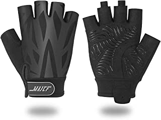 MAJCF Cycling Gloves Mountain Bike Gloves Bicycle Gloves, Half Finger Road Riding Gloves Anti- Slip Shock-Absorbing Pad Breathable Sports Gloves Accessories for Men/Women