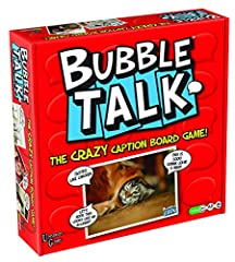 Bubble Talk - The hilarious photo-caption board game for friends and family Match funny pictures with funnier captions Learn to play in less than a minute The Judge draws a picture card, then players select the best caption card 150 hilarious picture...