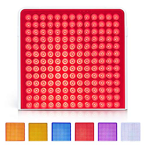 Led Colors Light Therapy Lamp Red Light Panel Device Multicolor with Goggles -...