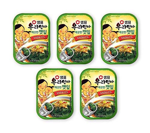 [泉標 / セムピョ] エゴマの葉キムチ 70g × 5個セット / 韓国食品 / 韓国おかず (海外直送)