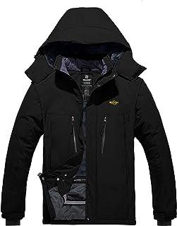 Wantdo Men`s Mountain Ski Jacket Waterproof Winter Snow Coat Windproof Outerwear