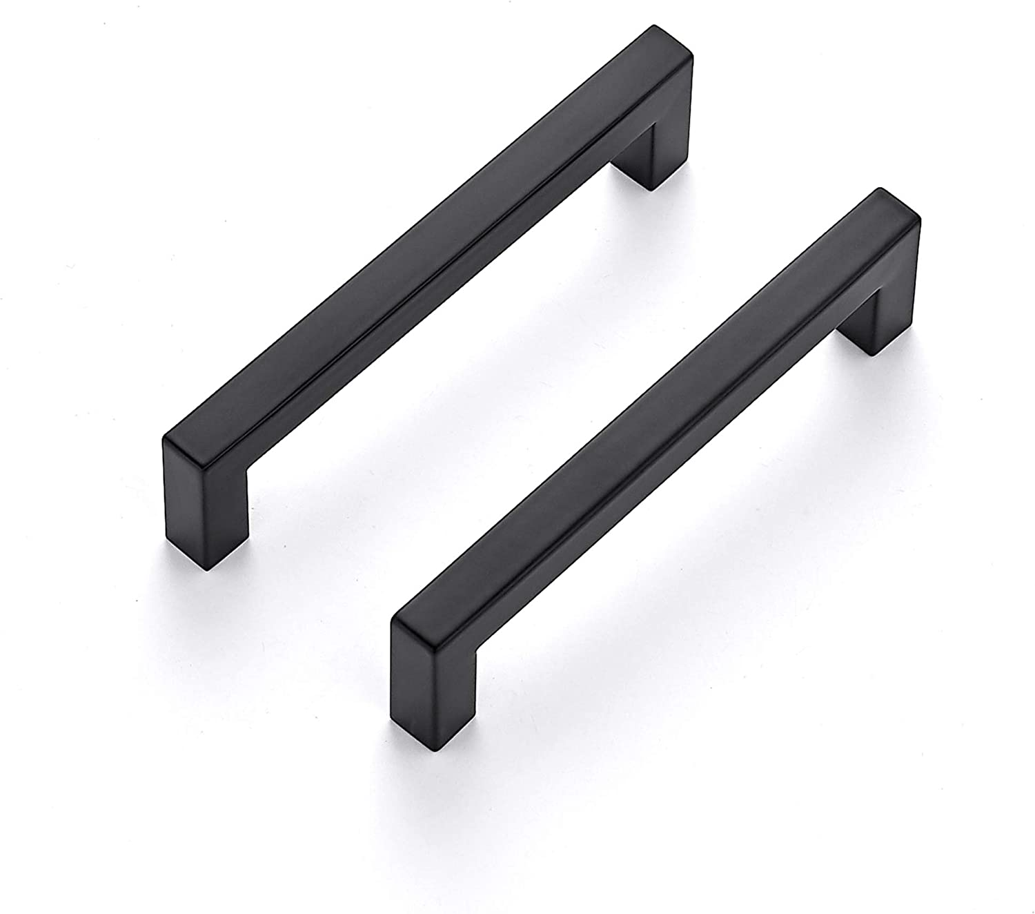 Ravinte 10 Pack 5 Inch Kitchen Deluxe Matte Luxury goods Blac Cabinet Handles Square