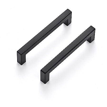 Lijing Cabinet Handle 2 PCS 2049-288 Drawer Cabinet Door Aluminum Alloy Handle Straight Door Handle Color : Black Black