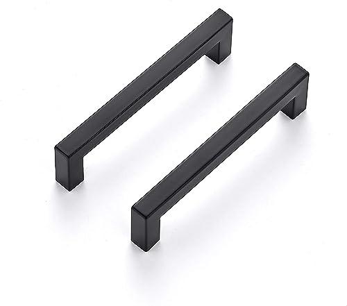 Ravinte 30 Pack 5 Inch Kitchen Square Cabinet Handles Matte Black Cabinet Pulls Black Drawer Pulls Kitchen Cabinet Ha...