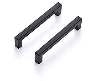 Ravinte 30 Pack 5 Inch Kitchen Square Cabinet Handles Matte Black Cabinet Pulls Black Drawer Pulls Kitchen Cabinet Hardwar...
