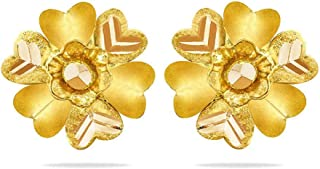 Candere By Kalyan Jewellers 22KT Yellow Gold Stud Earrings for Women
