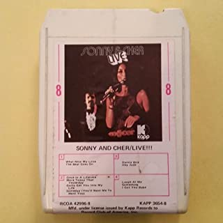 SONNY AND CHER Live!!! 8 Track Tape RCOA 42996 9 KAPP 3645 8