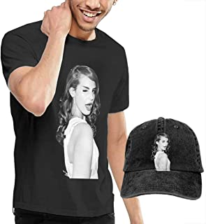057893802 Dwight E Hoskins Lana Del Rey T Shirts Men's Cotton Short Sleeve T-Shirt  with