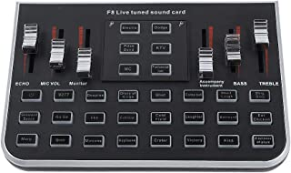 External Sound Cards, USB Portable Live Sound Card with 4 Modes, 23 Special Effects, Headset Microphone 3D Surround Sound Card Karaoke.