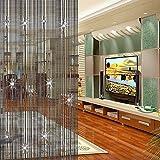 Doolland - Tenda con nappe e perline, divisorio per porta e porta, con perline, per decora...