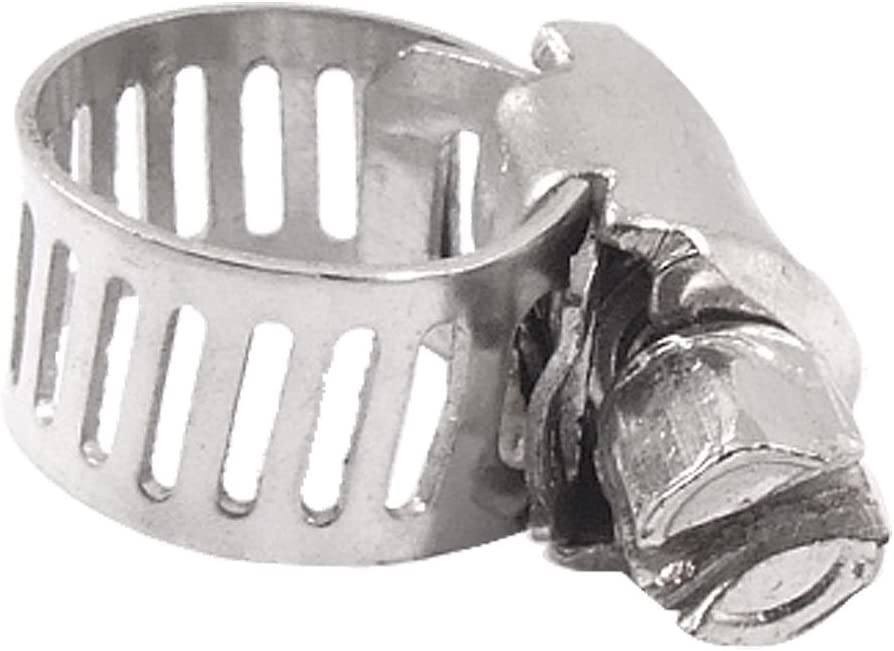 Great interest Aexit 5 Pcs Clamps Stainless Steel Gear Ranking TOP1 Worm Band Adjustable Hos